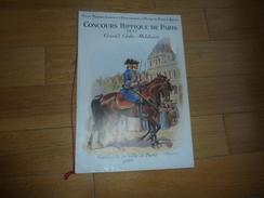 CHEVAL EQUITATION PROGRAMME CONCOURS HIPPIQUE DE PARIS GRAND GALA MILITAIRE 1937 - Dessins Rousselot - Programs