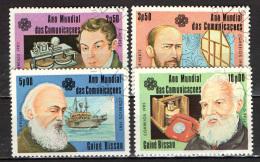 GUINEA BISSAU - 1983 - ANNO INTERNAZIONALE DELLE TELECOMUNICAZIONI: MORSE, HERTZ, KELVIN, BELL - USATI - Guinea-Bissau