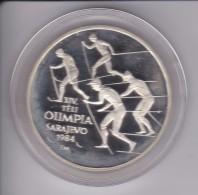 MONEDA DE PLATA DE HUNGRIA DE 500 FORINT DEL AÑO 1984 DE LAS OLIMPIADAS DE SARAJEVO (COIN) SILVER,ARGENT. - Hungría