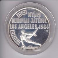 MONEDA DE PLATA DE HUNGRIA DE 500 FORINT DEL AÑO 1984 DE LAS OLIMPIADAS DE LOS ANGELES USA (COIN) SILVER,ARGENT. - Hungría