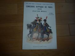 CHEVAL EQUITATION PROGRAMME CONCOURS HIPPIQUE DE PARIS GRAND GALA MILITAIRE 1939 - Dessins Rousselot - Programs