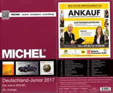 Briefmarken Katalog MlCHEL Junior Deutschland 2017 New 10€ D DR 3.Reich Danzig Saar Berlin SBZ DDR BRD 978-3-95402- - Télécartes
