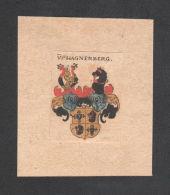 . Von Hagnenberg Wappen Coat Of Arms Heraldry Kupferstich - Prints & Engravings