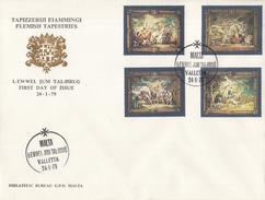 Malta - FDC 24 Januari 1979 -Vlaamse Wandtapijten - Judocus De Vos/Peter Paul Rubens - M 584-587 - Malta