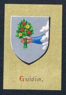 0. Jh. - Guidin Blason Aquarelle - Estampes & Gravures