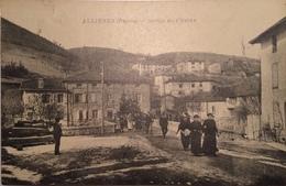 ALLIERES (RHONE - 69) - BELLE CPA ANIMEE ECRITE VOYAGEE TIMBREE DE 1926 - Francia