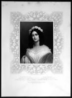 Rosalie Julie Von Bonar Wüllerstorf-Urbair Portrait Schönheitsgalerie Ludwig I Bayern - Stiche & Gravuren