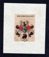 H. Holtzadel Holzadel Wappen Coat Of Arms Heraldry Heraldik  Kupferstich - Stiche & Gravuren