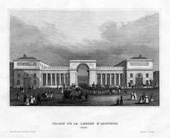 Paris Palais Legion Honneur Militär Frankreich France Original Stahlstich - Estampas & Grabados