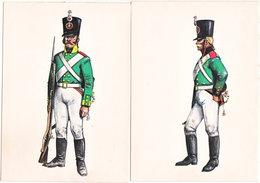 Gf. RUSSIE 1805. Mousquetaire Et Artilleur - Uniformes