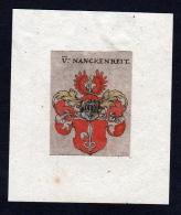 17. Jh Von Nanckenreit Wappen Coat Of Arms Heraldry Heraldik Kupferstich - Prints & Engravings