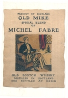 - étiquette  1950* COld Mike - Michel Fabre  Old Scotch Wisky - Whisky
