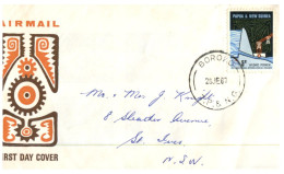 (345) Papua New Guinea To Australia Cover With Stamp 1967 - Papouasie-Nouvelle-Guinée