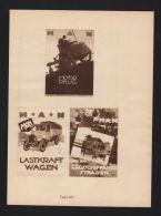 Ludwig Hohlwein Reklame Werbung Plakat MAN Motorpflug Estra Transformator - Karten