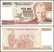 TURKEY 100.000 Lirasi 1997 UNC Pick 206 Prefix I - Turchia