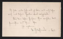 - Hans Wolfgang Quassowski - Letter Brief Autograph Signiert Signed - Autogramme & Autographen