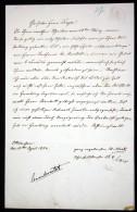 Handschriftlicher Brief Mit Unterschrift Vom 10. April 1854. / Autograph Letter With Signature. - Autogramme & Autographen