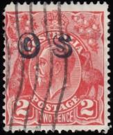 AUSTRALIA - Scott #O8 King George V 'Overprinted' / Used Stamp