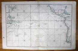 Pacific Ocean Australia Japan America California New Zealand Sea Chart Map - Stiche & Gravuren