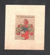 . Von Donnerstein Wappen Coat Of Arms Heraldry Heraldik Kupferstich - Estampes & Gravures