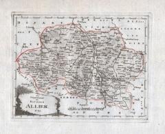 Das Departement Des Flusses Allier Nr. 785 - Allier Moulins Montlucon Vichy Montmarault Lapalisse - Carte Gravure Map Ka - Estampes & Gravures