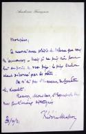 Autograph Letter With Signature / Eigenhändiger Brief Mit Unterschrift Vom 31.10.1921 - Autogramme & Autographen