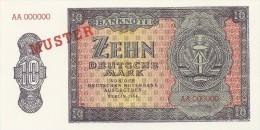 DDR Musternote 10 Mark 1954 UNC - [ 6] 1949-1990 : GDR - German Dem. Rep.