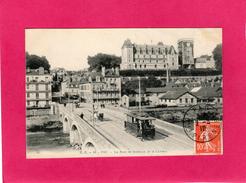 64 PYRENEES ATLANTIQUES, PAU, Le Pont De Jurançon Et Le Château, Animée, Attelages, 1910, (C. C.) - Pau