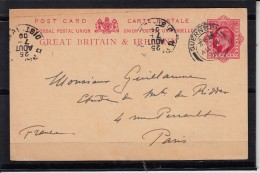 GUERNSEY  Entier Postal    Le 24 AU 1909  Sur CPA   Pour PARIS - Guernsey
