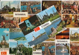 5 POSTCARDS: ISTANBUL - Multiviews - Turkije