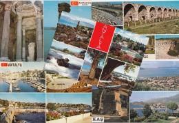 5 POSTCARDS: ANTALYA - Multiviews - Turkije