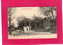 64 PYRENEES ATLANTIQUES, PAU, Avenue Du Bois-Louis Et Funiculaire, Animée, Attelagede Boeufs, 1913, (Labouche) - Pau