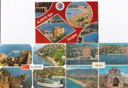 3 POSTCARDS: ALANYA - Multiviews - Turkije