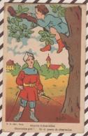 6AI4540 Illustrateur MELEK AU POSTE D'OBSERVATION ENFANTS TACHE  2 Scans - Künstlerkarten