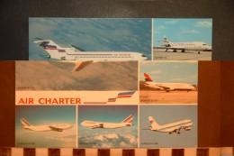 CP,  TRANSPORTS, Aviation Airplane Plane Flugzeug, Flotte Utilisée Par AIR CHARTER, Filiale D'AIR FRANCE ET AIR INTER, - 1946-....: Moderne