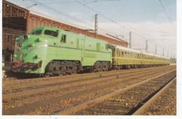 CPM ESPAGNE Locomotora Electrica 7766...  Scans Recto Verso Voir Explications Au Dos - Treinen