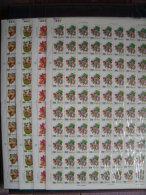 Taiwan 1991 Toy Stamps Sheets Top Windmill Pinwheel Bamboo Pony Grasshopper Horse Dog Kid Insect