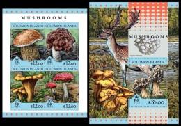 SOLOMON Isl. 2016 - Mushrooms. M/S + S/S - Paddestoelen