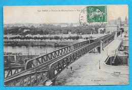 75-Paris-Viaduc Du Métropolitain-Vue Panoramique-cpa écrite 1908 - Métro Parisien, Gares