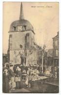 OBJAT    Marché Devant  L'église   1916 - Andere Gemeenten