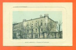 """CPA 30  Saint Ambroix  """" Chateau De Fabiargue """" Carte En Creux - Saint-Ambroix"""