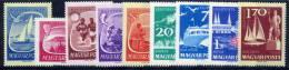 HUNGARY 1959 Lake Balaton Set Of 9 MNH / **.  Michel; 1609-17 - Hungary