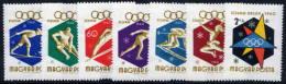 HUNGARY 1960 Winter Olympics Set Of 7 MNH / **.  Michel 1668-74 - Hungary