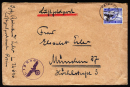 A4313) DR Feldpostbrief Von FP L 12646 9.5.43 Nach München - Briefe U. Dokumente