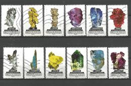 #  France / Adhesif / N° 1218 à 1229 Oblitéré / Le Monde Minéral / Année 2016 / Lot N° 010 Serie - France