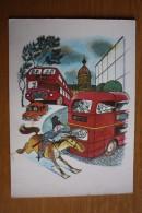 Donald Bisset Tales - Policeman - Old Postcard 1982 - Horse - Bus - Police - Polizia – Gendarmeria