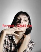 Reproduction Photographie D'un Portrait De La Chanteuse Marie Laforêt Fumant Une Cigarette - Reproducciones