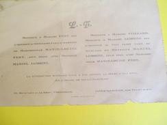 Marie-Louise FERT Et Marcel LEMOINE/ Eglise De Saulx Marchais/ Thoiry / Versailles/1923   FPM27 - Wedding