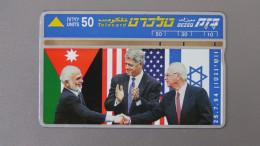 Israel - Bezeq - 1994 - 50 U - Peace Between Israel And Jordan - Lap:BZ-067 - Look Scans - Israel