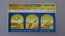 Israel - Bezeq - 1996 - 120 U - Jerusalem In Gold - Lap:BZ-103 - Look Scans - Israel